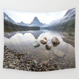 Rocky Lake Mountains Wall Tapestry