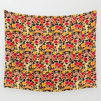 frida Wall Tapestries featuring Frida by Bouffants and Broken Hearts