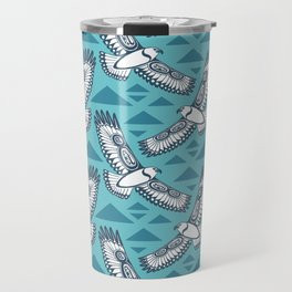 The Hawk's Flight_ Light cerulean Travel Mug