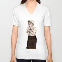 nurse V-neck T-shirts featuring Nurse by CokecinL