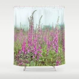 Foxglove Wildflowers Shower Curtain