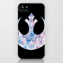 Galaxy Rebel Alliance Mandala iPhone Case