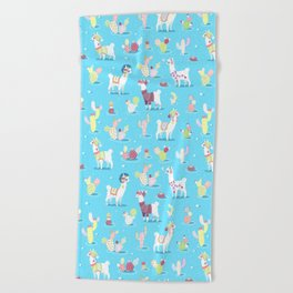 Alpaca Pattern Beach Towel