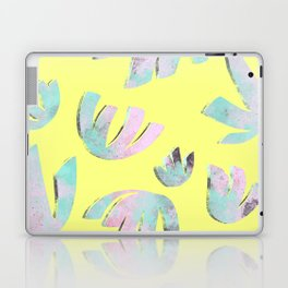 flora pattern no.1 / bright yellow Laptop & iPad Skin