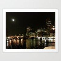 Starry Night in Boston Art Print