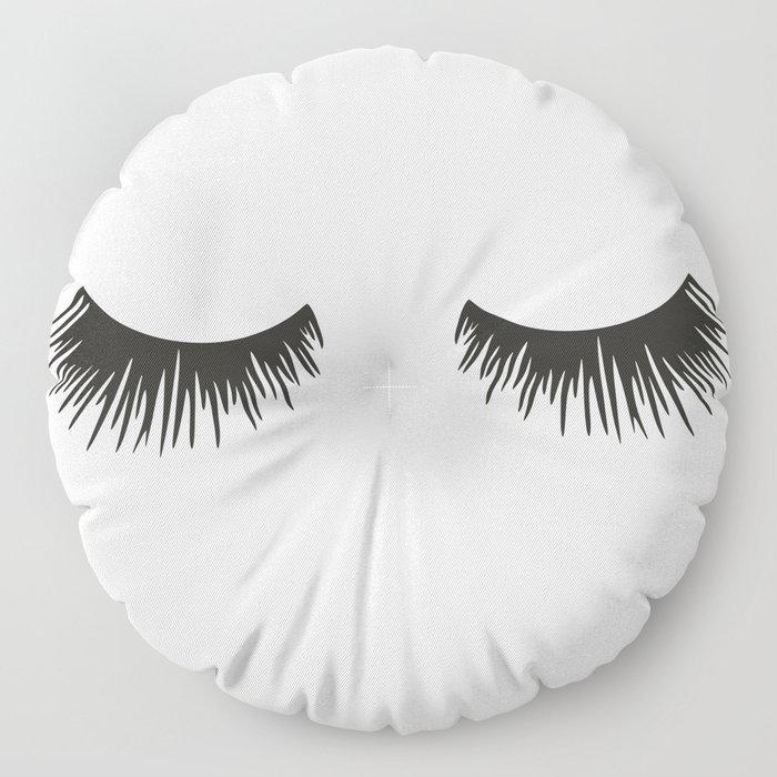 Closed Eyelashes Floor Pillow