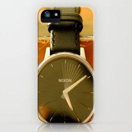 Time is on your side iPhone Case