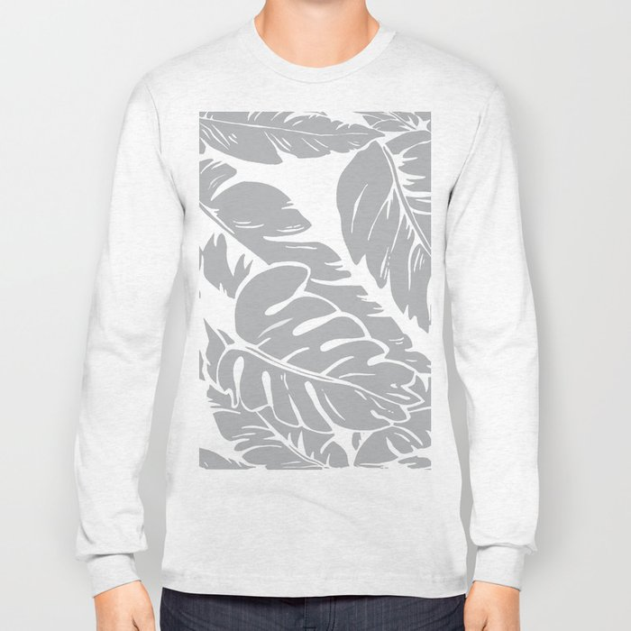 PALM LEAF GRAY Long Sleeve T-shirt