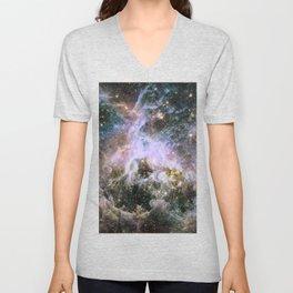Cosmic Tarantula Nebula (infrared view) Unisex V-Neck
