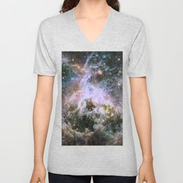 Cosmic Tarantula Nebula (infrared view) Unisex V-Neck