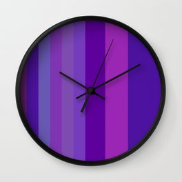 Purplerys Wall Clock