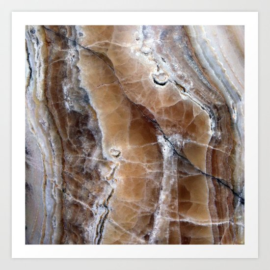 Marble Paint Formation Art Print