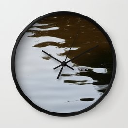 Dark and Clear Water Wall Clock