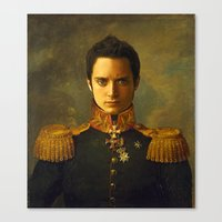 replaceface Canvas Prints featuring Elijah Wood - replaceface by replaceface
