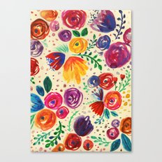 Summer Fruits Floral Canvas Print