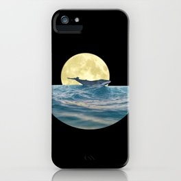 Whale under the moon Minimalist iPhone Case