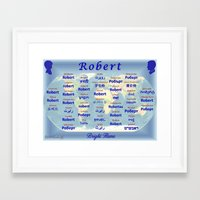 robert farkas Framed Art Prints featuring Robert by JMcCombie