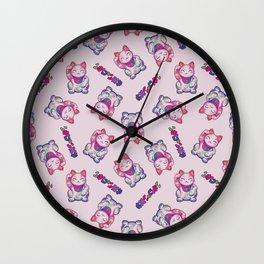 Maneki Neko Cotton (Bare Version) Wall Clock