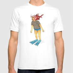 Pescado MEDIUM Mens Fitted Tee White