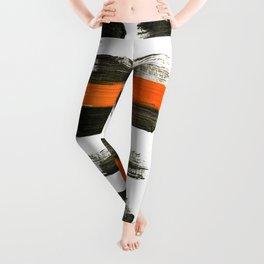 orange stripes Leggings