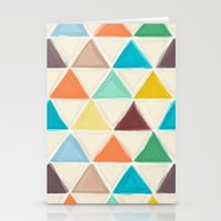portland Stationery Cards featuring Portland triangles by Sharon Turner