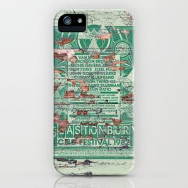 Distressed Glastonbury 1982 Poster iPhone Case
