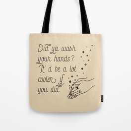 Wash Your Hands in Black & Mauve Tote Bag
