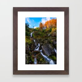 Waterfall in Ireland (RR 253) Framed Art Print
