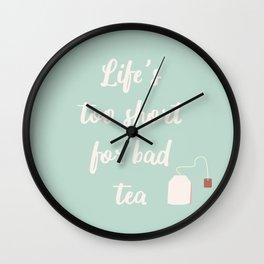 The Tea Lover II Wall Clock