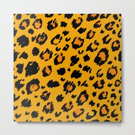 Cheetah skin pattern design Metal Print