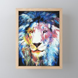 Colorful African Lion Framed Mini Art Print