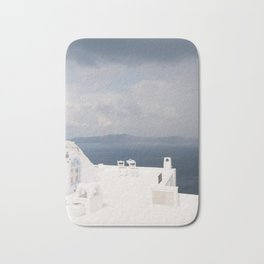 Santorini beautiful view Bath Mat