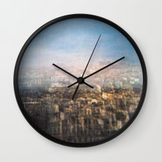 Paris Multiple Exposure  Wall Clock