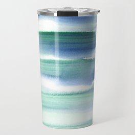 Frozen Summer Series 157  | Watercolor Paintings Easy Ideas Travel Mug