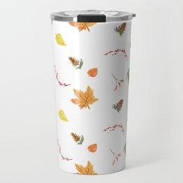 Autumn Fall Leaves Print Travel Mug