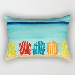 A Day At The Beach Rectangular Pillow