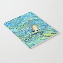 Small Boat on The High Seas Notebook