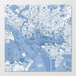 Washington DC Map Canvas Print