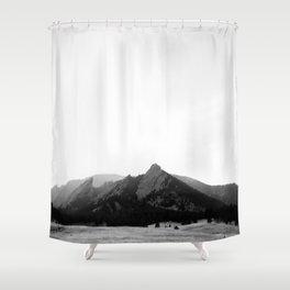 Flatirons in Grey Shower Curtain
