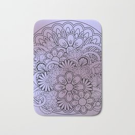 floral composition in mandala Bath Mat