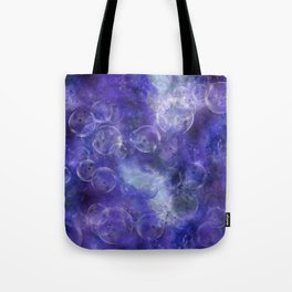 Space Universe with surreal soap bubbles Tote Bag