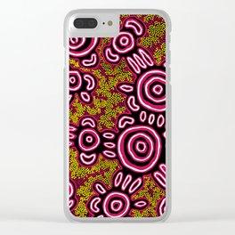U Belong - Authentic Aboriginal Art Clear iPhone Case