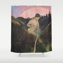 Mineral Spring Shower Curtain