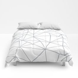 Ab Outline 2 Grey on White Comforters
