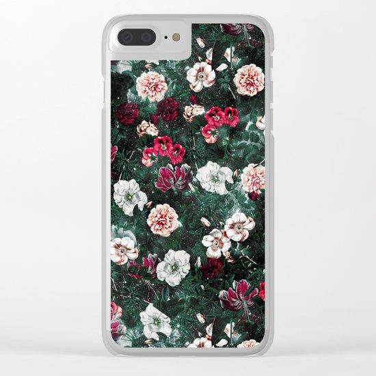 NIGHT GARDEN XXV Clear iPhone Case