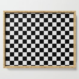 Checkered (white + black) Serving Tray