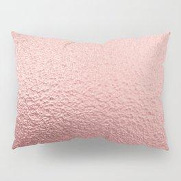 Pure Rose Gold Metal Pink Pillow Sham
