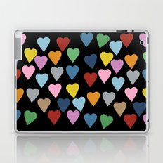 Hearts #3 Black Laptop & iPad Skin