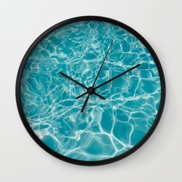 Blue Summer Water Wall Clock