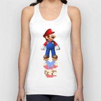 super mario Tank Tops featuring Super Mario by idaspark